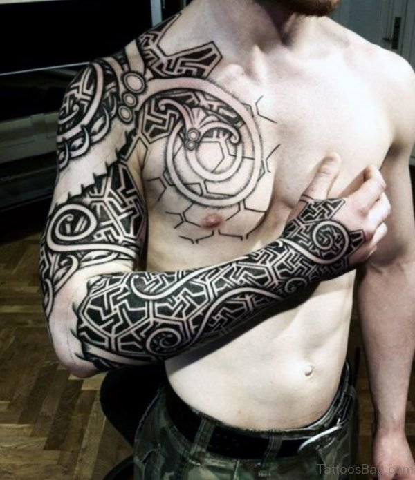 Tribal Tattoo Modern Full Sleeve