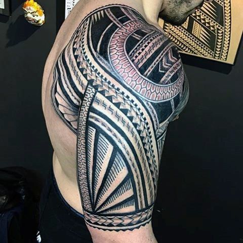 Tribal Tattoo Sleeve Polynesia