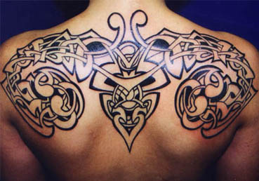 Upper Back Tribal Tattoos