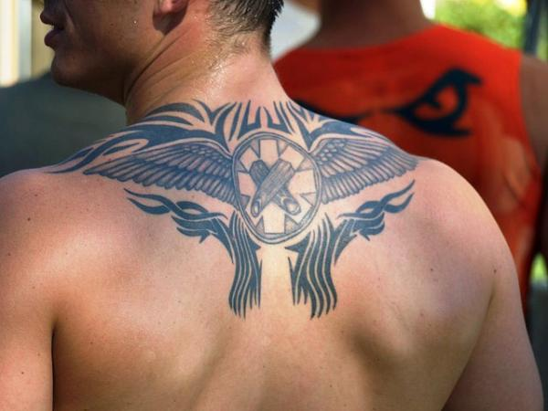 Tribal Tattoo Upper Back