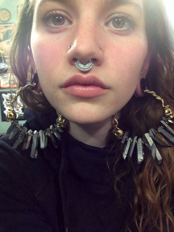 beautiful ear and nose piercings