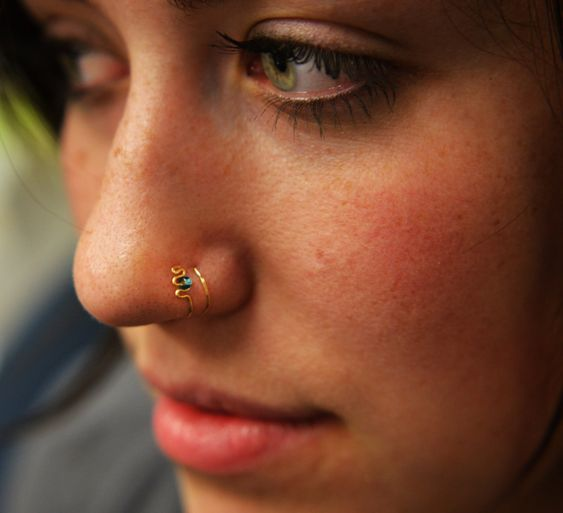 beautiful nose piercing