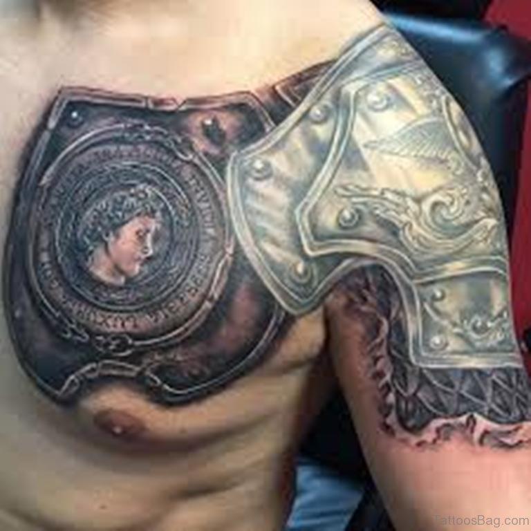 chestplate intricate tattoo