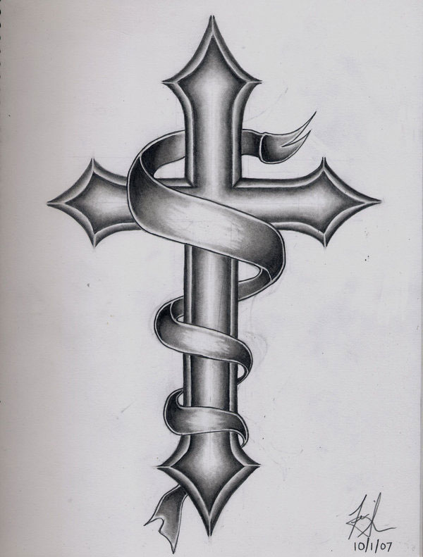 cross-tattoo men sketch 1