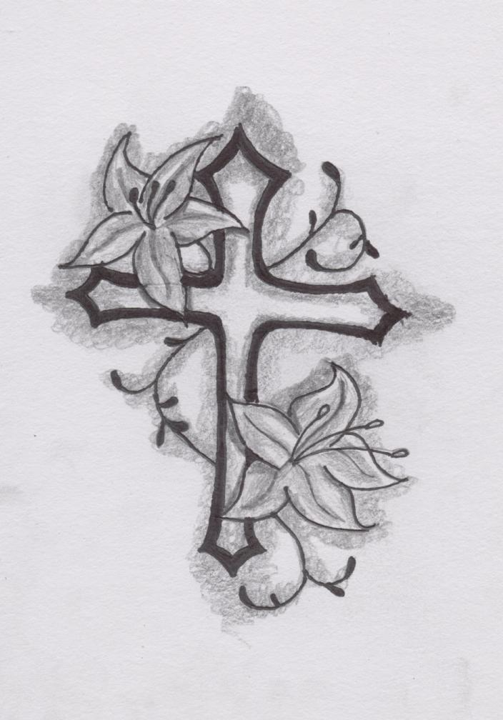 cross tattoo men sketch 3