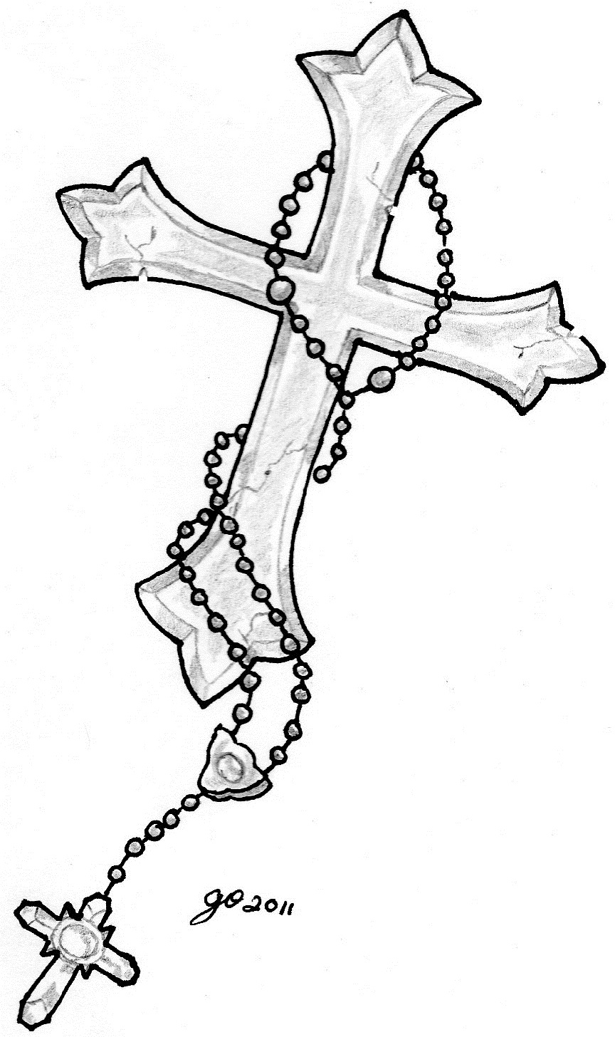cross tattoo men sketch 5