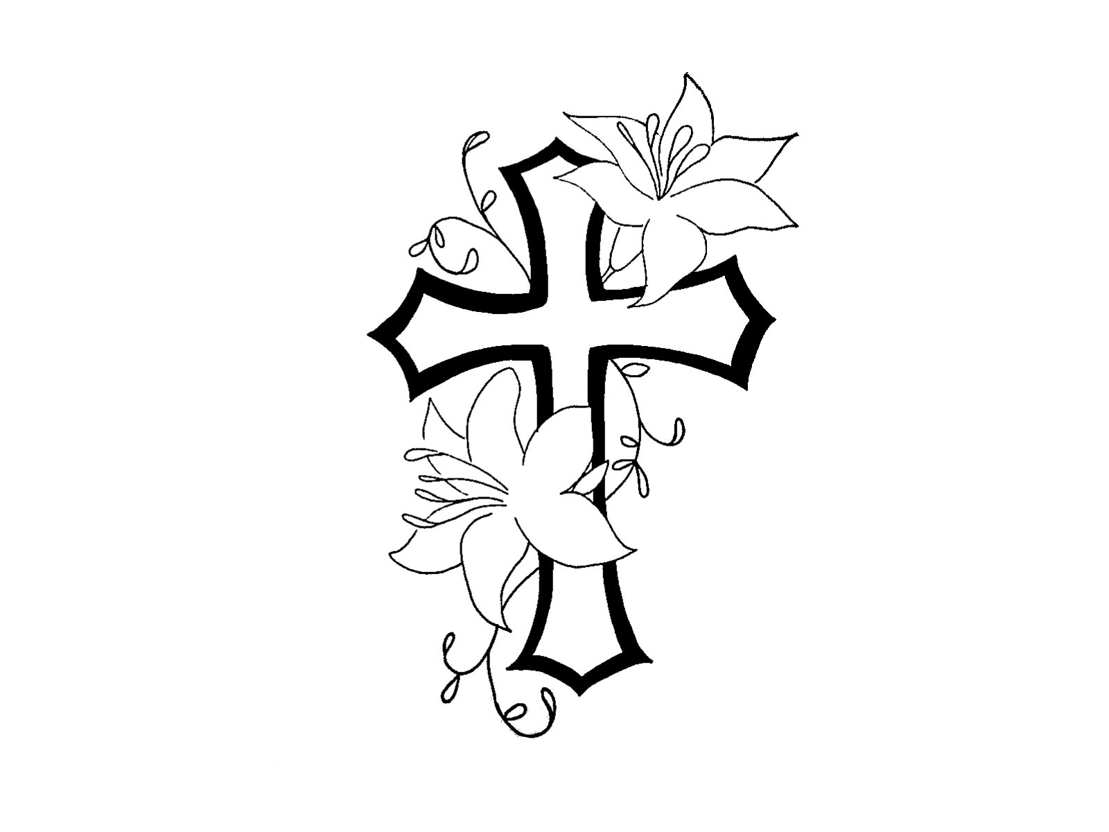Cross With Flowers Tattoos 1000+ Images About Tatts On Pinterest