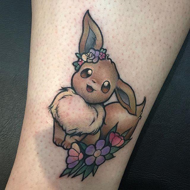 eevee floral tattoo