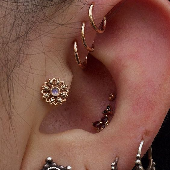 elegant daith piercing
