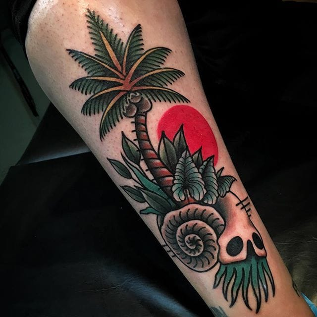 35 Best Palm Tree Tattoo Designs For Summer Vibes Tats N Rings