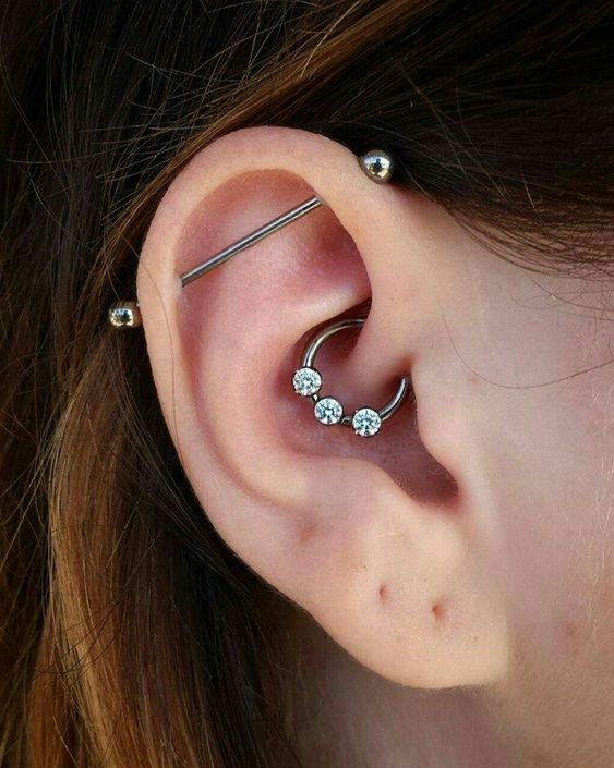 simple daith piercing