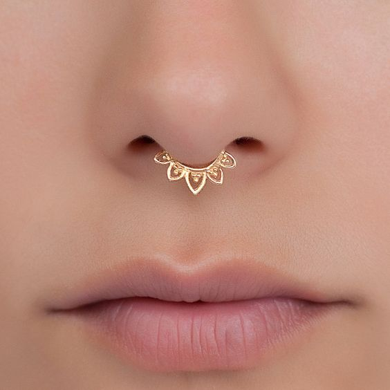 gold ring for septum piercing