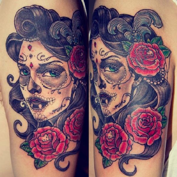 neo girl arm tattoo