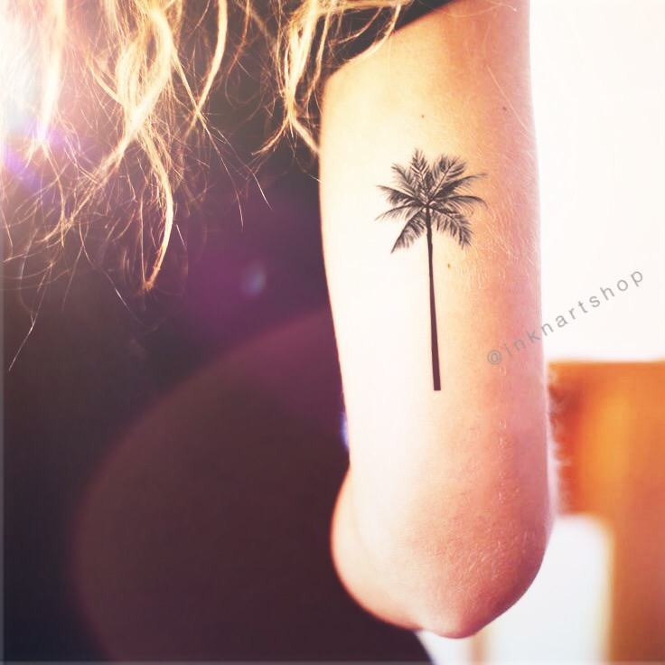 palm tree arm tattoo 2