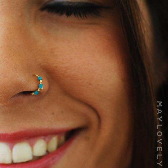 pretty nose piercing for women