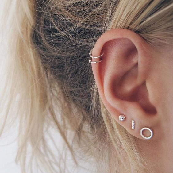 simple helix earring