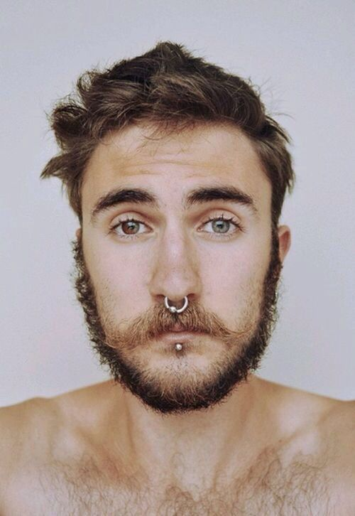 simple septum piercing for men