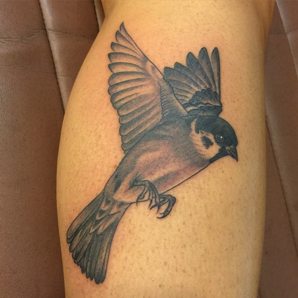 sparrow leg tattoo