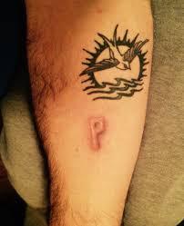 sparrow small sea leg tattoo