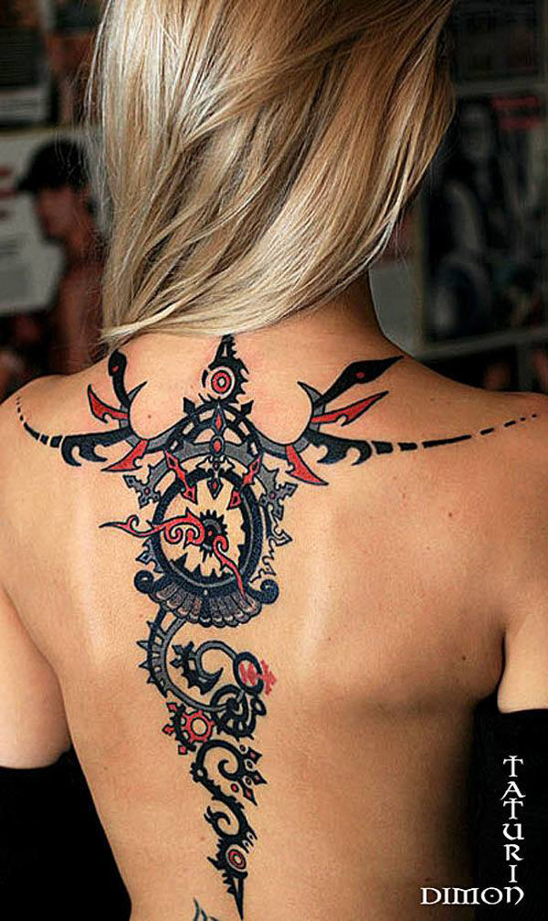 steampunk back tattoo