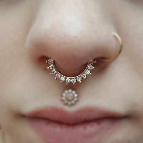 swarovski ring for septum piercing