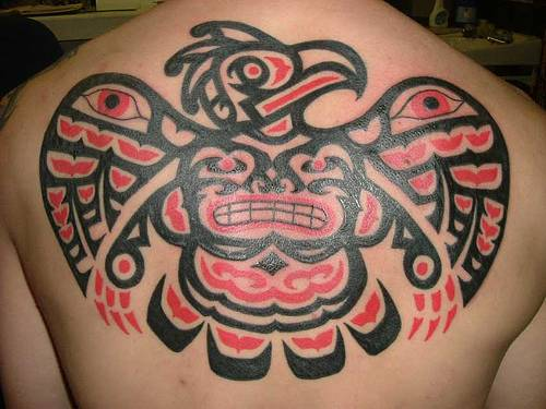 tribal tattoo aztec back