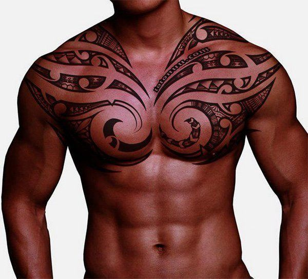 tribal tattoo chest 3