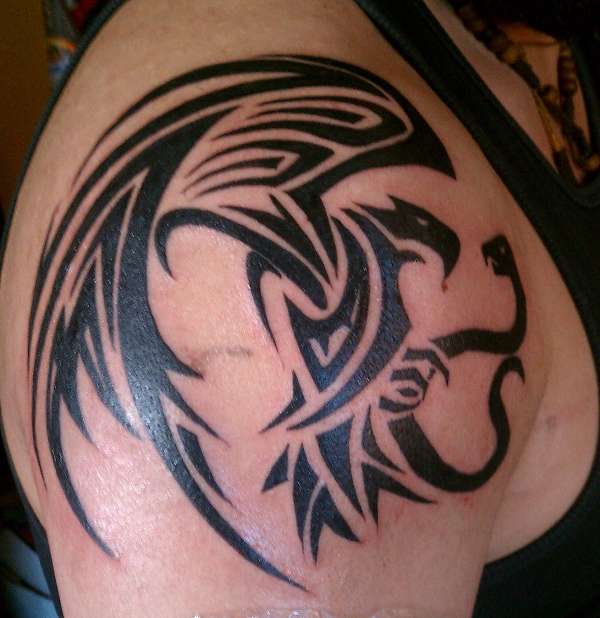 tribal tattoo eagle