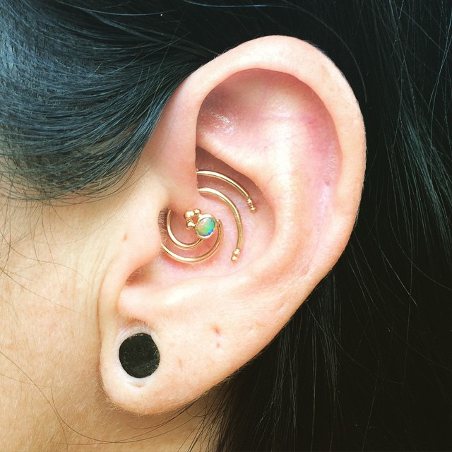 unique daith piercing for women