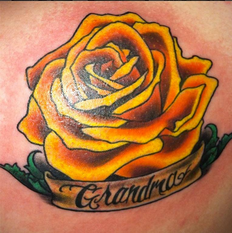 Yellow Rose Tattoo 1