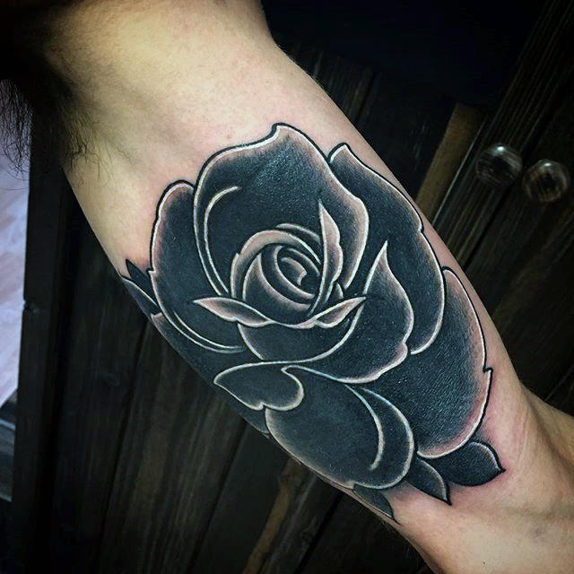 black rose tattoo arm 1
