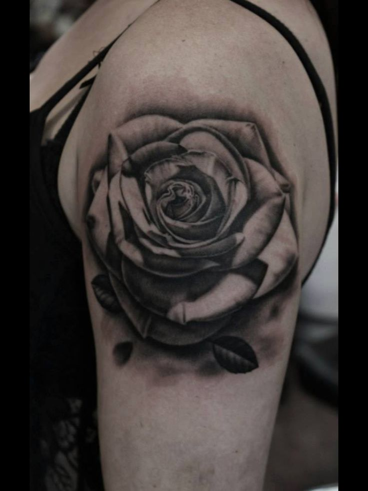 black rose tattoo sleeve