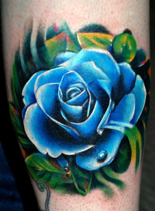 blue rose tattoo arm 1