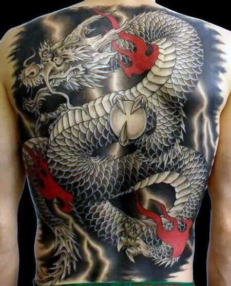 chinese dragon tattoo full back