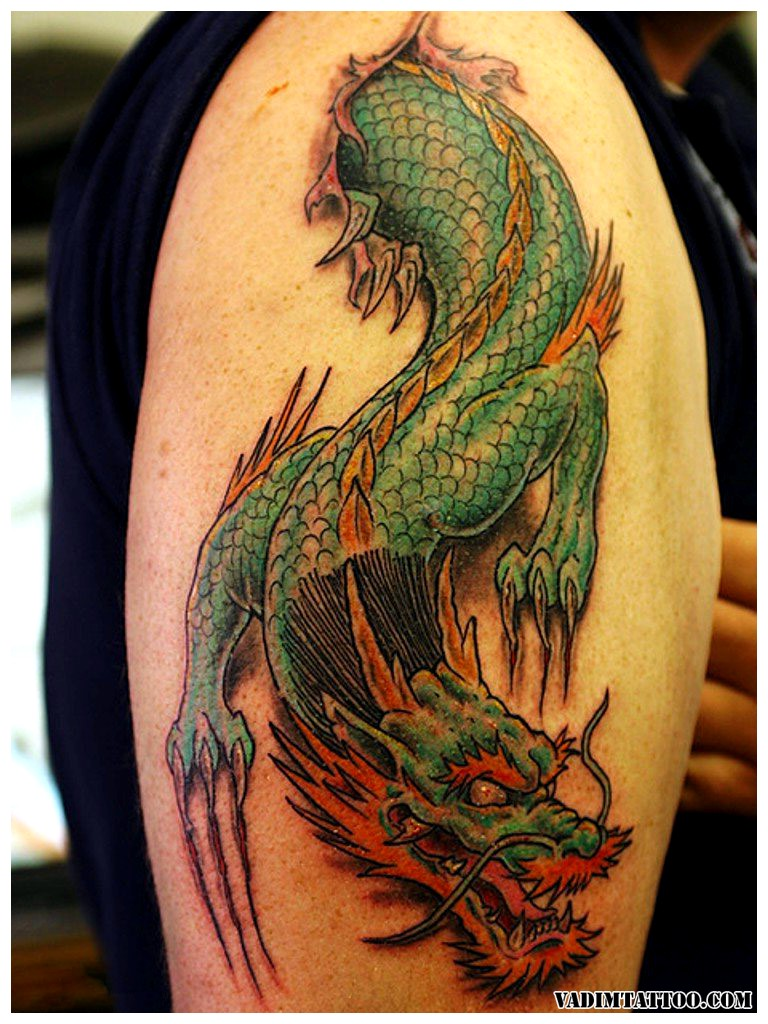 chinese dragon tattoo sleeve 1