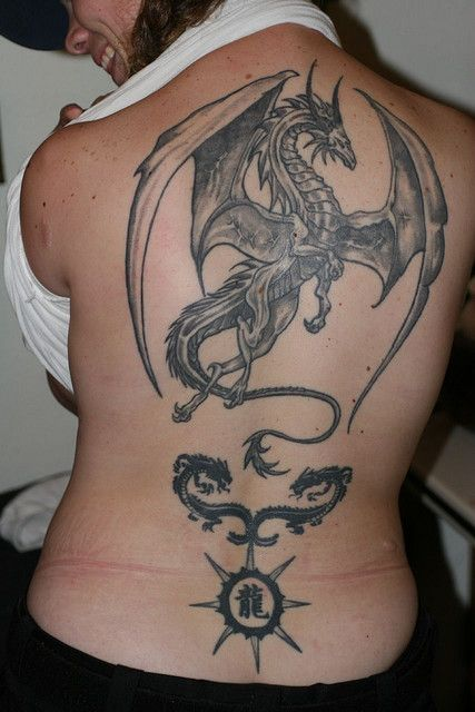 men dragon tattoo full back 1
