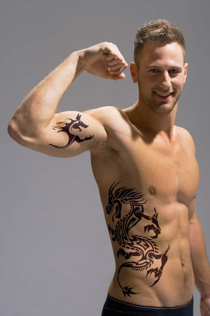 men dragon tattoo side 2