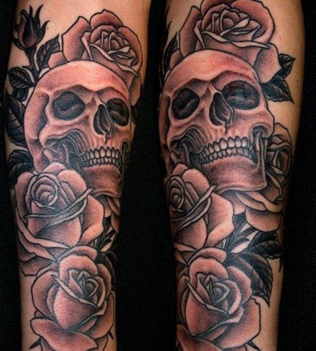men skull tattoo arm 1