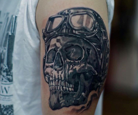 men skull tattoo arm 4