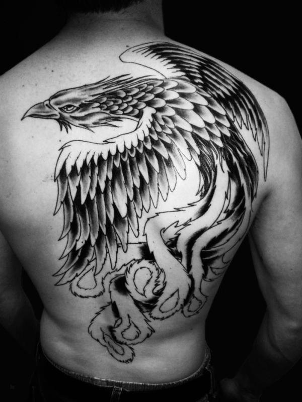 phoenix tattoo men full back 1