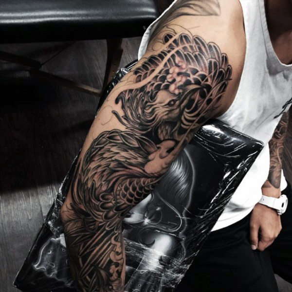 phoenix tattoo men full sleeve 1
