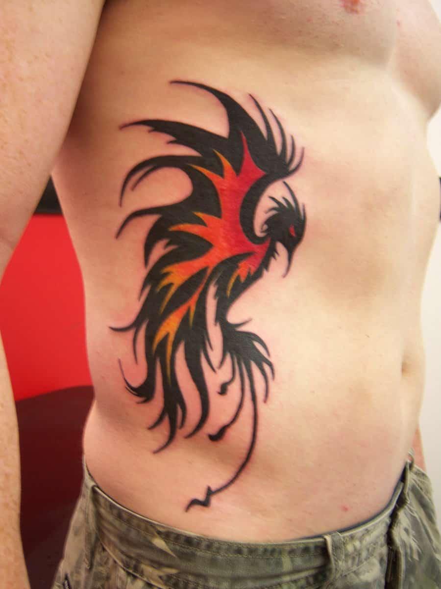 phoenix tattoo men side 1