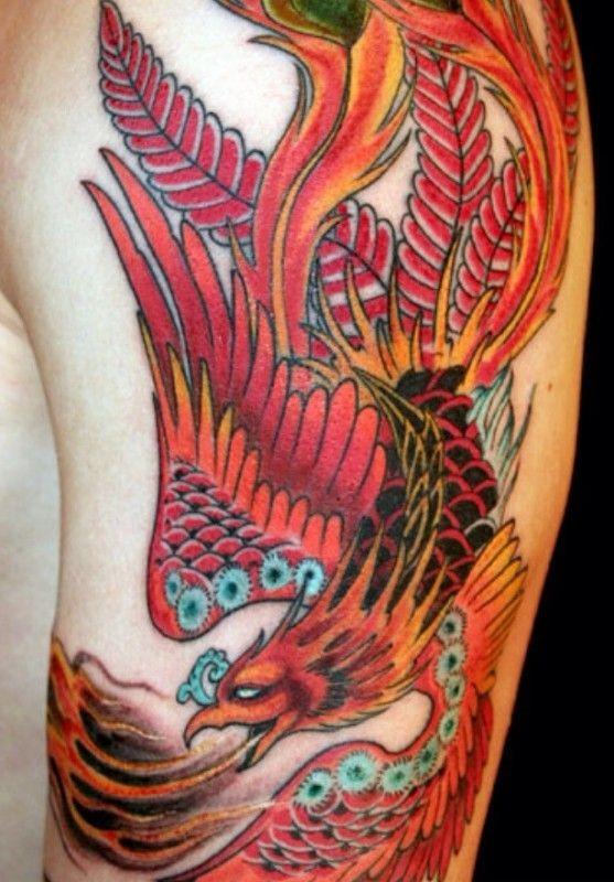 phoenix tattoo neotraditional half sleeve 2
