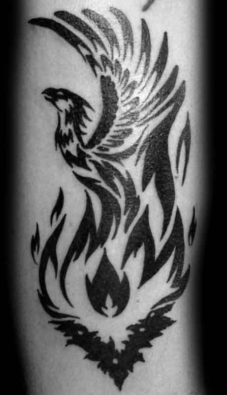 phoenix tattoo tribal arm 1