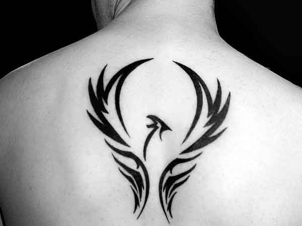 phoenix tattoo tribal back 2