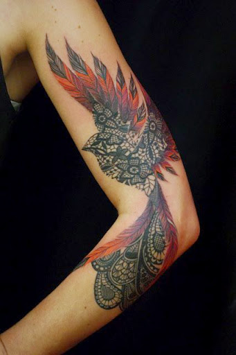 phoenix tattoo women sleeve 1
