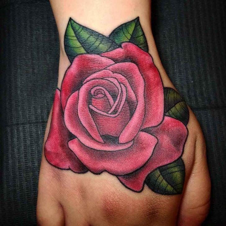 pink tattoo hand 1