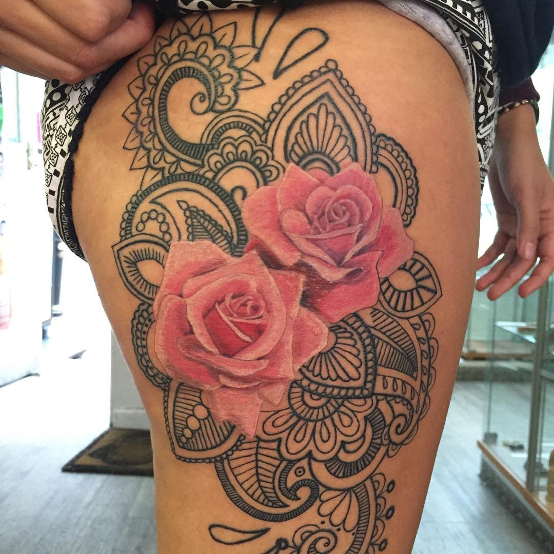 pink tattoo thigh 1