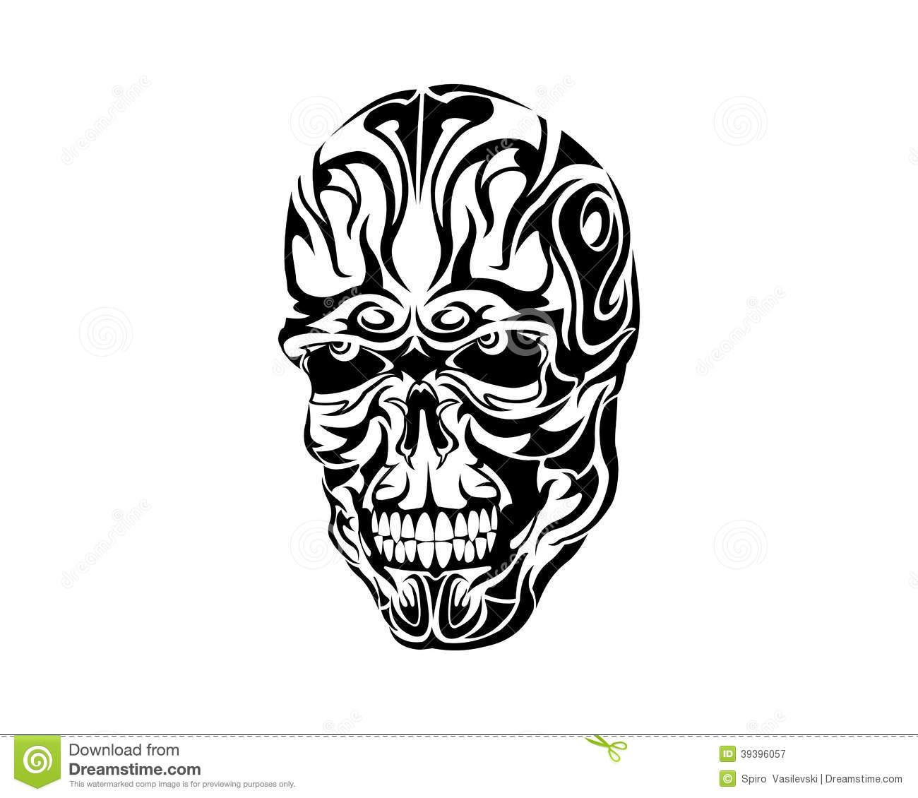 tribal skull tattoo idea 1