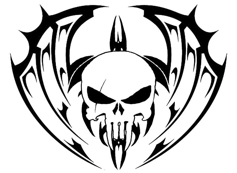 tribal skull tattoo idea 2
